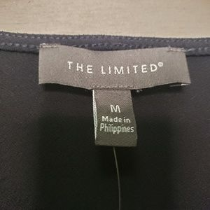 The Limited Tops - The Limited Navy Blouse lace trim 3/4 tie sleeves